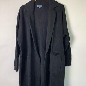 Mod cloth black 1X Heavy long cardigan New 6677